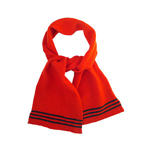 Pillar Box Red Knitted Lambswool Scarf - scarves