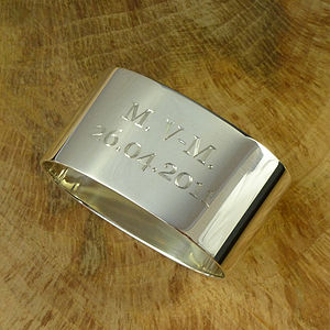 Silver Napkin Ring Personalised - table decorations