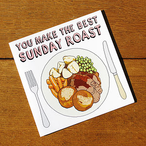 'You Make The Best Sunday Roast' Card - mother's day cards