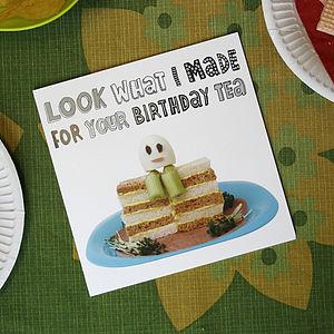 Humpty Egg Birthday Tea Greetings Card