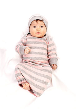 Girl's Striped Sleepgown