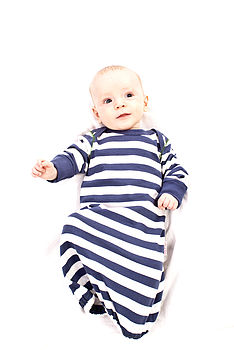 Boy's Striped Sleepgown