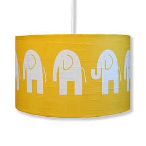Handmade Retro Elephant Lampshade - children's room accessories