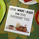 Train Cake Birthday Tea Greetings Card