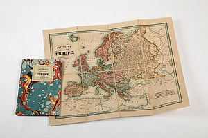 Vintage Style Europe Map