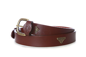 Saunton Handmade Leather Belt - men's accessories