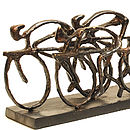 Cyclist Racing Sculpture