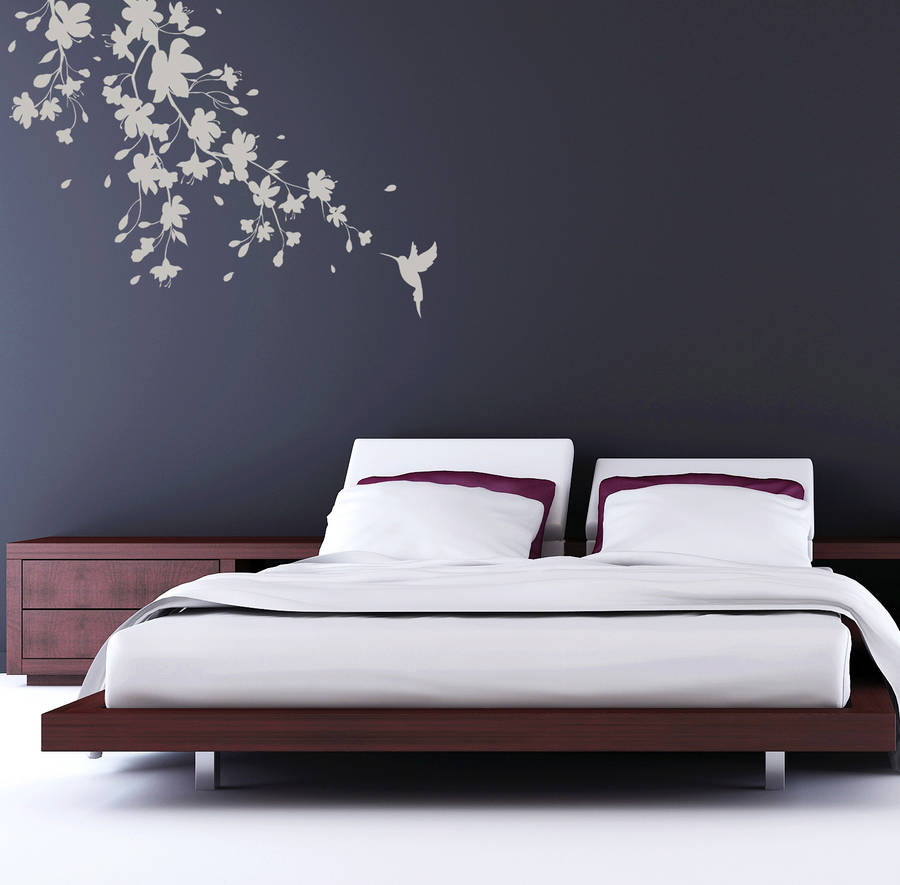 Sakura blossom wall sticker by spin collective for Mural hitam putih