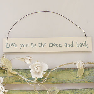 'Love You To The Moon & Back' Hanging Sign - outdoor decorations
