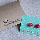 Rose earrings with gift box