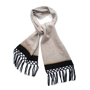 Cliff Top Knitted Lambswool Scarf - hats, scarves & gloves