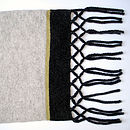 Cliff Top Knitted Lambswool Scarf