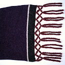 Damson Knitted Lambswool Scarf
