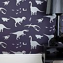 'Dya-think-E-saurus' Purple Dinosaur Wallpaper