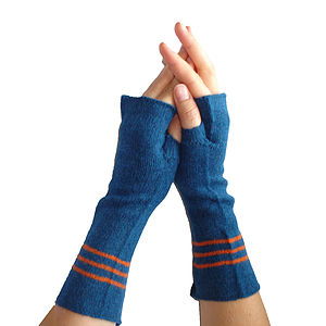 Knitted Lambswool Hand Warmers - gloves