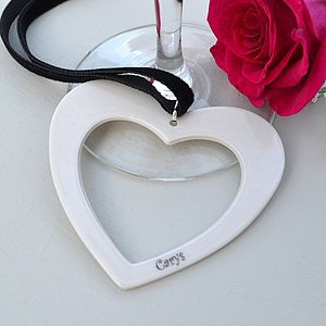 25 Bespoke Porcelain Wedding Favours - heart favours