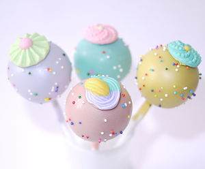 Vintage Button Cake Pops - cakes