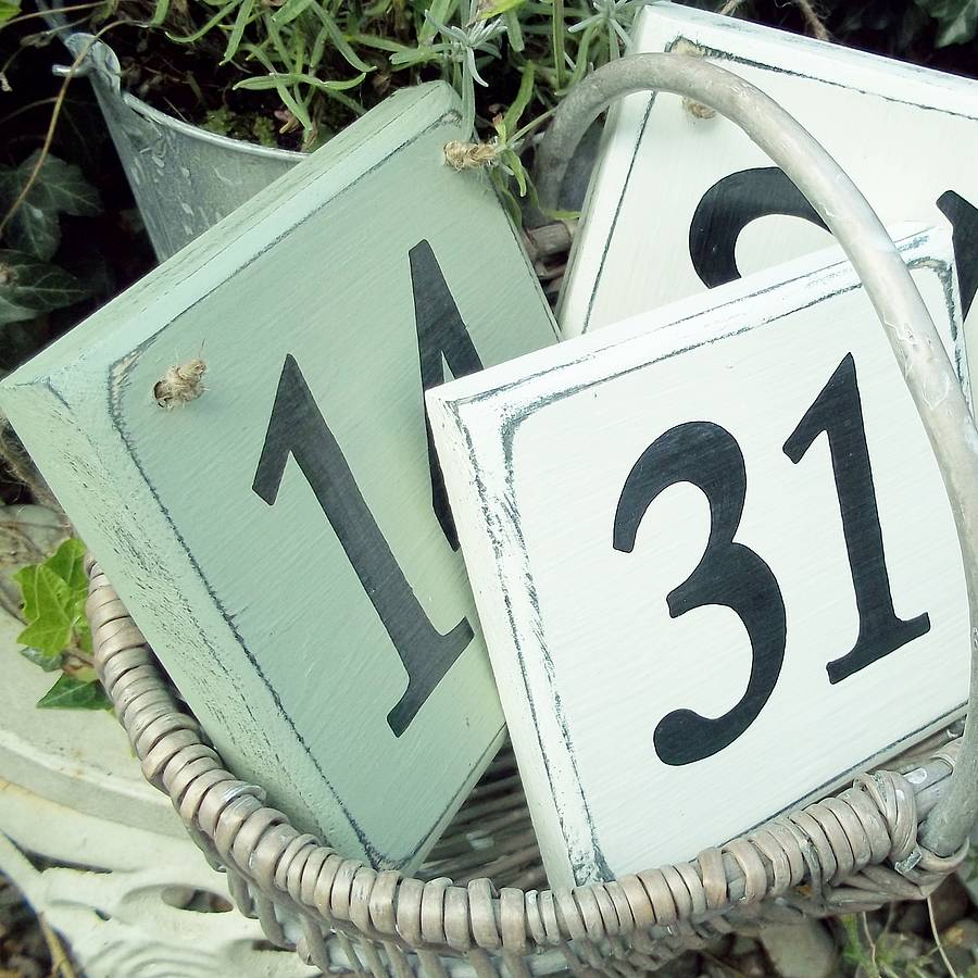 personalised house number sign by potting shed designs