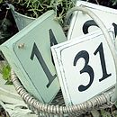 Personalised House Number Sign