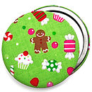 Christmas Candy Compact Mirror - Green