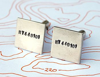 Personalised silver cuff links