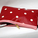 Oilcloth Red Spotty Cosmetic Bag