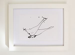 'Two Geese' Hand Signed Artist Print
