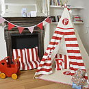 Personalised Striped Initial Play Teepee