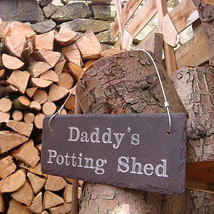 Engraved 'Daddy's Shed' Sign - art & decorations