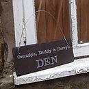 Personalised Grandpa's shed sign