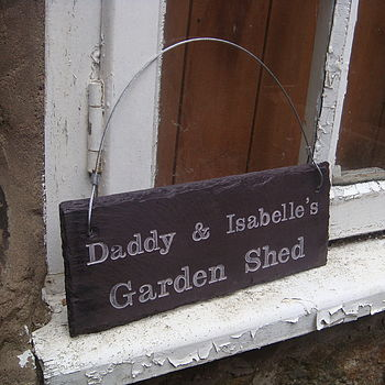 Personalised Daddy's shed sign
