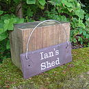 Personalised Engraved Slate Shed Sign