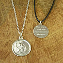 Thumb personalised st christopher medal