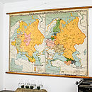 Vintage Pull Down Russia Map