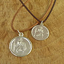 Personalised St Christopher Medallion.