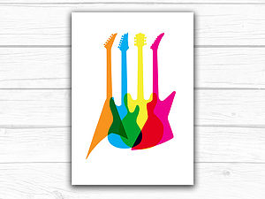 Guitar Illustration Art Print
