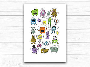 Little Monsters Print