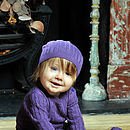 Organic Cable Knit Baby Bodysuit And Hat Set