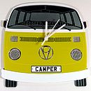 Yellow Campervan Wall Clock