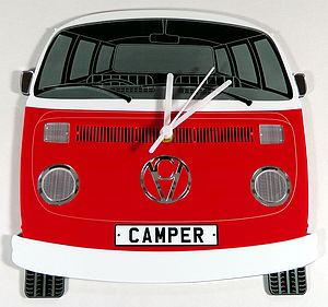 Personalised Campervan Clock - children's decorative accessories