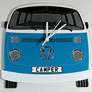 Blue Campervan Wall Clock