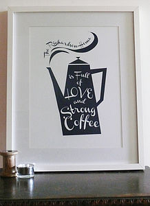 Personalised Coffee Pot Print
