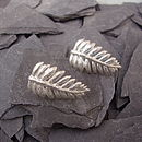 Fern Leaf Drop Earrings