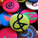 Design Your Own Satin Number & Symbol Badges