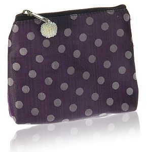 Mahara Silk Dotty Purse - Four Colours