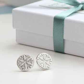 Silver Snowflake Stud Earrings