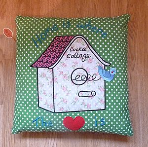 Embroidered Cushion Cover - patterned cushions