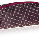 Sale Silk Dotty Wash / Cosmetic Bag Three Colours