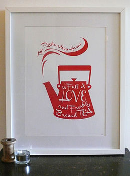 Personalised Tea Pot Print