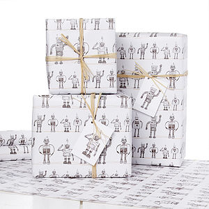 1950S Robot Gift Wrap - wrapping paper